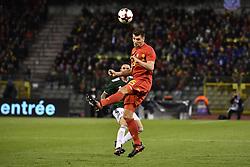 November 10, 2017 - Brugge, BELGIUM - Belgium's Thomas Meunier pictured in action during a friendly soccer game between Belgian national team Red Devils and Mexico, Friday 10 November 2017, in Brugge...BELGA PHOTO DIRK WAEM (Credit Image: © Dirk Waem/Belga via ZUMA Press)