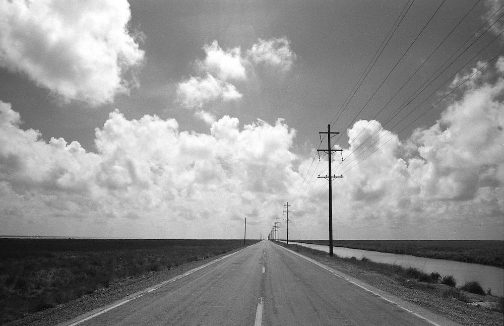 Louisiana State Rte. 82, Looking West Toward Holly Beach