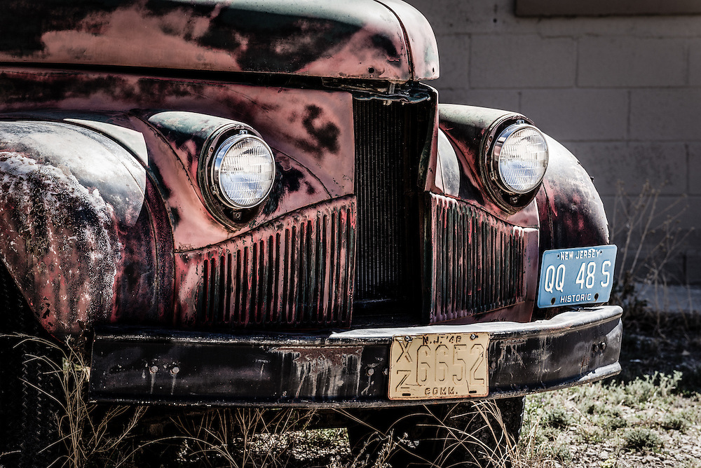 Digitally altered rendition of an old truck, Carrizozo, New Mexico.