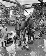 Children in a ruined schol  - West Nile, Moyo District, Uganda.