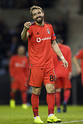 November 8, 2018 - Genk, BELGIUM - Besiktas' Caner Erkin reacts during a match between Belgian soccer team KRC Genk and Turkish club Besiktas, in Genk, Thursday 08 November 2018 on day four of the UEFA Europa League group stage, in group I. BELGA PHOTO JASPER JACOBS (Credit Image: © Jasper Jacobs/Belga via ZUMA Press)