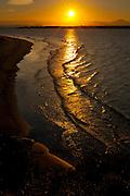 Sunset over the beach on Ilha do Mel, Brazil, South America