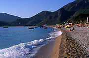 People swimming in the sea, Oludeniz beach, Fethiye, Turkey