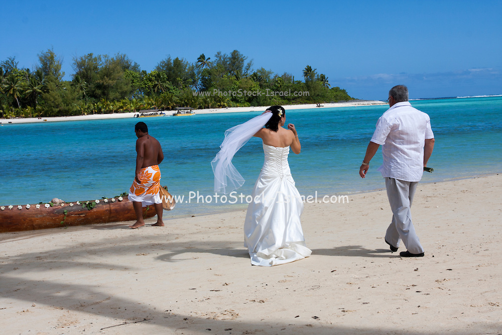 Cook islands, New Zealand,wedding on the beach