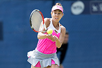 NOTTINGHAM, ENGLAND - JUNE 13: Mihaela Buzarnescu of Romania in action against Irina Falconi of USA during Day Five of the Nature Valley Open at Nottingham Tennis Centre on June 13, 2018 in Nottingham, United Kingdom. (Photo by James Wilson/MB Media/Getty Images)