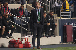 April 14, 2017 - Chester, PA, United States of America - Philadelphia Union Manager JIM CURTIN watches his players in the second half of a Major League Soccer match between the Philadelphia Union and New York City FC Friday, Apr. 17, 2016 at Talen Energy Stadium in Chester, PA. (Credit Image: © Saquan Stimpson via ZUMA Wire)