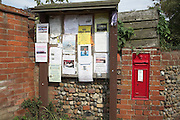 Community noticeboard Walberswick, Suffolk, England