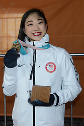 February 12, 2018 - Pyeongchang, South Korea - MIRAI NAGASU of the United States with her bronze medal from the figure skating Team Event in the PyeongChang Olympic games. (Credit Image: © Christopher Levy via ZUMA Wire)
