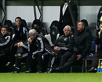 Photo: Andrew Unwin.<br />Newcastle United v Middlesbrough. The Barclays Premiership. 02/01/2006.<br />Newcastle's manager, Graeme Souness (R), cannot believe it as his team concede another goal.