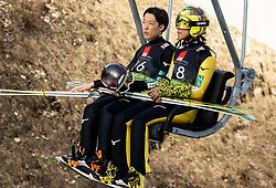 Junshiro Kobayashi (JPN) and Noriaki Kasai (JPN) during the Ski Flying Hill Individual Competition at Day 2 of FIS Ski Jumping World Cup Final 2019, on March 22, 2019 in Planica, Slovenia. Photo by Masa Kraljic / Sportida