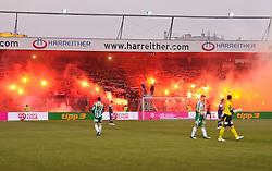 13.03.2011, Franz Horr Stadion, Wien, AUT, 1.FBL, FK Austria Wien vs SK Rapid Wien, im Bild Rapid Fans mit Bengalen, EXPA Pictures © 2011, PhotoCredit: EXPA/ M. Gruber