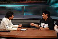 Fotball<br /> Foto: Argenpress/Digitalsport<br /> NORWAY ONLY<br /> <br /> 19.09.2004<br /> <br /> DIEGO MARADONA ATTENDED A TV PROGRAM FEW DAYS BEFORE HIS TRIP TO CUBA