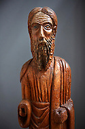13th century wood statue of Saint  Elias - Amalfi Cathedral museum, Italy .<br /> <br /> Visit our ITALY HISTORIC PLACES PHOTO COLLECTION for more   photos of Italy to download or buy as prints https://funkystock.photoshelter.com/gallery-collection/2b-Pictures-Images-of-Italy-Photos-of-Italian-Historic-Landmark-Sites/C0000qxA2zGFjd_k .<br /> Visit our MEDIEVAL ART PHOTO COLLECTIONS for more   photos  to download or buy as prints https://funkystock.photoshelter.com/gallery-collection/Medieval-Middle-Ages-Art-Artefacts-Antiquities-Pictures-Images-of/C0000YpKXiAHnG2k