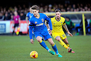 AFC Wimbledon midfielder Jake Reeves (8) dribbling during the EFL Sky Bet League 1 match between AFC Wimbledon and Oxford United at the Cherry Red Records Stadium, Kingston, England on 14 January 2017. Photo by Matthew Redman.
