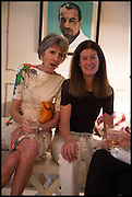 JANE CHURCHILL; LADY HENRIETTA SPENCER-CHURCHILL, Nicky Haslam hosts a party to launch a book by  Maureen Footer 'George Stacey and the Creation of American Chic' . With a foreword by Mario Buatta. Kensington. London. 11 June 2014