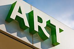 Signage for Dallas Museum of Art, Dallas, Texas, USA.