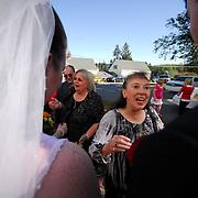 9/26/09 -- The wedding of Maryann Christensen and Robert Johnson.  Photo by Roger S. Duncan.