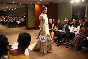 """Model at b.michael America Spring 2010 Collection """" Advanced American Style """" held at Christie's in Rockefeller Plaza on September 16, 2009 in New York City."""