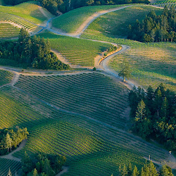 Aerial views of Landscape in Northern California.