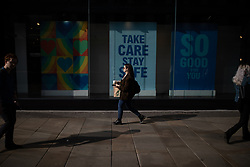 © Licensed to London News Pictures. 15/06/2020. Manchester, UK. High street shops reopen in Manchester City Centre for the first time since measures forced non-essential retailers to close , in order to limit the spread of the Coronavirus . Photo credit: Joel Goodman/LNP