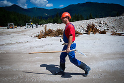 Reconstruction of ski jumping hills in Planica on July 25, 2013 in Planica, Slovenia. (Photo by Vid Ponikvar / Sportida.com)