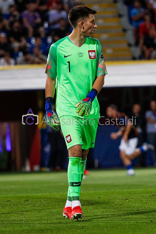 """Foto Alessandro Castaldi<br /> 19/06/2019 Bologna (Italia)<br /> Sport - Italia - Pologna - UEFA Campionati Europei Under-21 2019 - Stadio """"Renato Dall'Ara""""<br /> Nella foto: <br /> <br /> Photo Alessandro Castaldi<br /> June 16, 2019 Bologna (Italy)<br /> Sport Soccer<br /> Italy vs Poland - UEFA European Under-21 Championship 2019 - """"Renato Dall'Ara"""" Stadium <br /> In the pic:"""