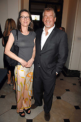 SIMON KELNER and his wife SALLY-ANN at a party to celebrate the publication of Dell'Olio's book 'My Beautiful Game' held at the Italian Embassy, Grosvenor Square, London on 17th April 2008.<br /><br />NON EXCLUSIVE - WORLD RIGHTS