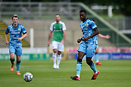 Sadou Diallo (23) of Forest Green Rovers on the attack during the Pre-Season Friendly match between Yeovil Town and Forest Green Rovers at Huish Park, Yeovil, England on 31 July 2021.