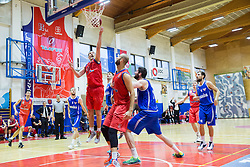 Dragisa Drobnjak of Tajfun during basketball match between KK Tajfun and KK Rogaskain 2nd Round of Final of Slovenian National Basketball Championship 2014/15, on May 24, 2015 in OS Hrusevec, Sentjur pri Celju, Slovenia. Photo by Vid Ponikvar / Sportida