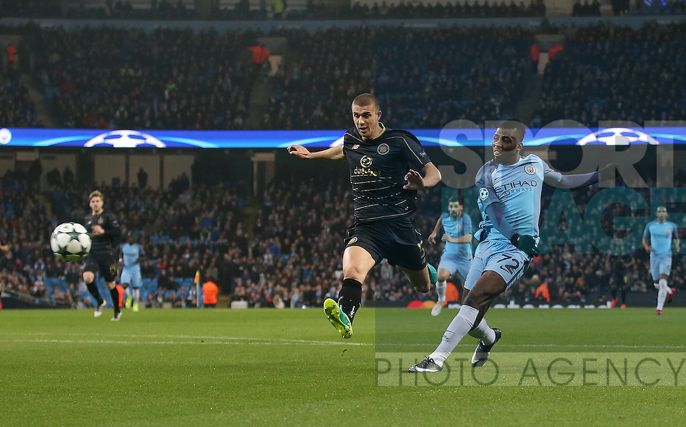 Kelechi Iheanacho of Manchester City scores their equalising goal during the Champions League Group C match at the Etihad Stadium, Manchester. Picture date: December 6th, 2016. Pic Simon Bellis/Sportimage