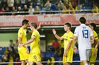 The players of Villarreal celebrates the goal during the match of Uefa Europa League, 3 day. (Photo: Alter Photos / Bouza Press / Maria Jose Segovia)