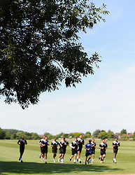 Yeovil Town Assistant Manager Terry Skiverton and Manager Paul Sturrock look on. - Photo mandatory by-line: Harry Trump/JMP - Mobile: 07966 386802 - 03/07/15 - SPORT - FOOTBALL - Pre Season - Yeovil Town Training - Sherborne School, Dorset, England.