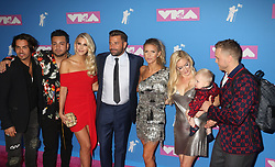 August 20, 2018 - New York City, New York, U.S. - 'The Hills' JUSTIN BOBBY BRESCIA, STEPHANIE PRATT, FRANKIE DELGADO, ASHLEY WAHLER, JASON WAHLER, AUDRINA PATRIDGE, HEIDI PRATT, GUNNER PRATT AND SPENCER PRATT. attend the arrivals for the 2018 MTV 'VMAS' held at Radio City Music Hall. (Credit Image: © Nancy Kaszerman via ZUMA Wire)