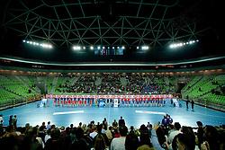Arena Stozice  during handball match between RK Krim Mercator (SLO) and RK Podravka Vegeta (CRO) in Women's EHF Champions League, on November 13, 2010 in Arena Stozice, Ljubljana, Slovenia. (Photo By Vid Ponikvar / Sportida.com)