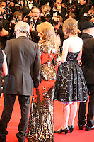 Kylie Minogue in a gold dress at the Holy Motors gala screening, red carpet at the 65th Cannes Film Festival France. Wednesday 23rd May 2012 in Cannes Film Festival, France.