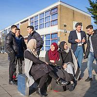 Nederland, Rotterdam, 27 januari 2017.<br />De enige islamitische middelb school in Nederland  het Avicenna College.<br />Op de achtergrond directeur Richard Troost<br /><br /><br /><br />Foto: Jean-Pierre Jans