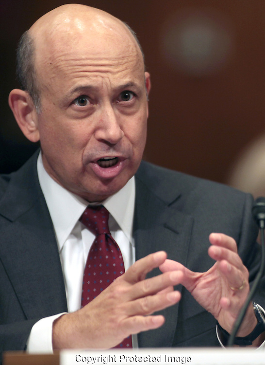 Lloyd  Blankfein, CEO Goldman Sachs, testifies before the Senate Homeland Security and Government Affairs Subcommittee on April 27, 2010. Photograph by Dennis Brack