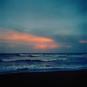 Sunset, Carribean Sea, Tortuguero National Park, East Coast, Tortuguera, Limon, Costa Rica