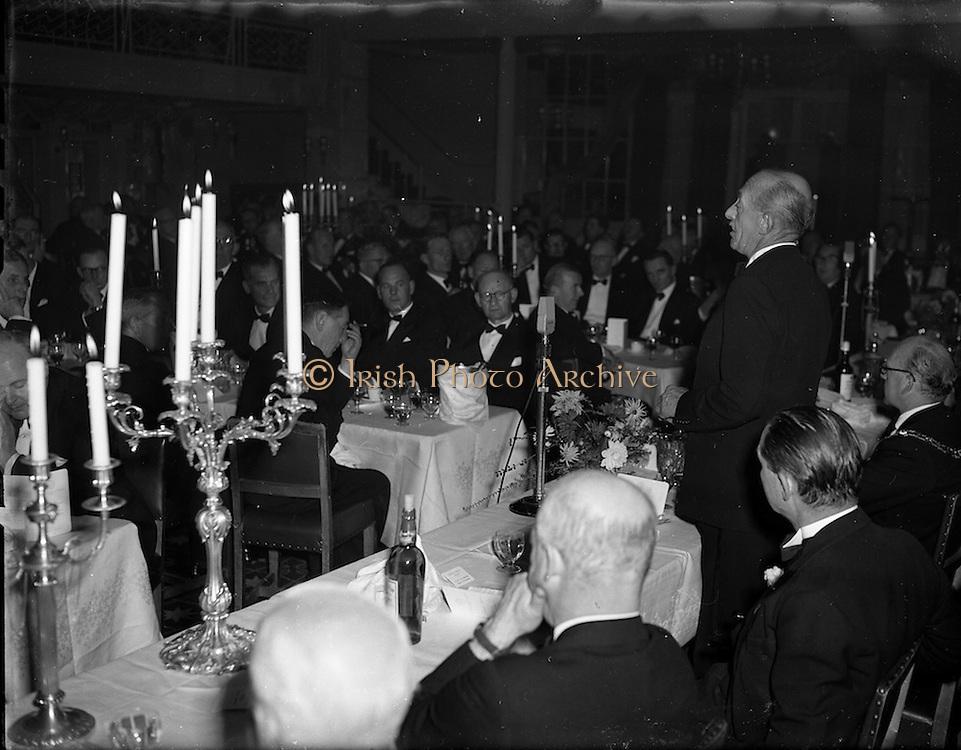 22/10/1957<br /> 10/22/1957<br /> 22 October 1957<br /> Dublin Chamber of Commerce Dinner at the Gresham Hotel, Dublin.