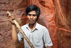 Takom Village, Cambodia.<br />Mr. Khun Vanny, 48<br />Portrait. Images: