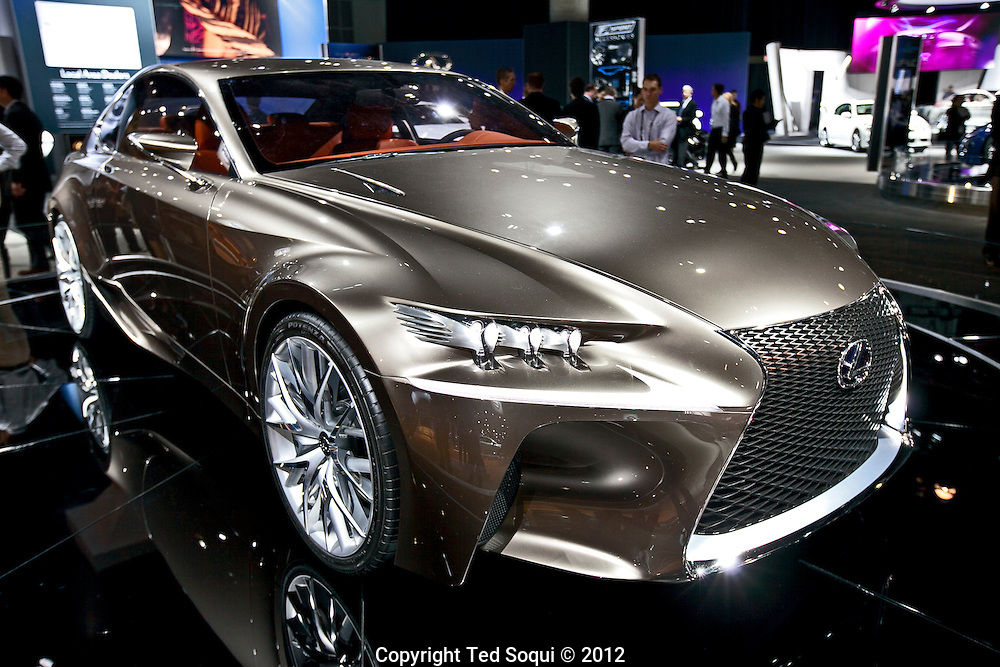 LA Auto Show press preview at the LA Convention Center..Lexus LF-CC concept vehicle..