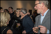 LUCY LYSTER;; BEN ELTON; HARRY ENFIELD;, Private view, Paul Simonon- Wot no Bike, ICA Nash and Brandon Rooms, London. 20 January 2015
