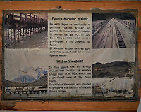 Weber Mirador Viewpoint Sign. Torres del Paine National Park. Image taken with a Fuji X-T1 camera and 23 mm f/1.4 lens.