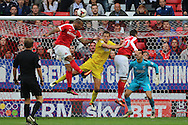 AFC Wimbledon defender Paul Robinson (6) in action during the EFL Sky Bet League 1 match between Charlton Athletic and AFC Wimbledon at The Valley, London, England on 17 September 2016. Photo by Stuart Butcher.