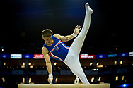 Sam Oldham of Great Britain (GBR) on the Pommel Horse during the iPro Sport World Cup of Gymnastics 2017 at the O2 Arena, London, United Kingdom on 8 April 2017. Photo by Martin Cole.