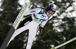 Anette Sagen of Norway during Normal Hill Individual Competition at FIS World Cup Ski jumping Ladies Ljubno 2012, on February 11, 2012 in Ljubno ob Savinji, Slovenia. (Photo By Vid Ponikvar / Sportida.com)