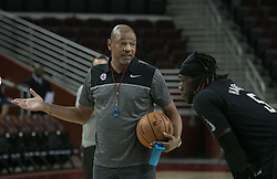 October 10, 2017 - Los Angeles, California, U.S - Coach, Doc Rivers of the Los Angeles Clippers gives instructions during their Free Open Practice for fans held on Tuesday October 10, 2017 at the Galen Center in USC in Los Angeles, California. (Credit Image: © Prensa Internacional via ZUMA Wire)