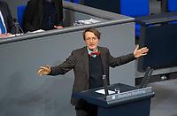 DEU, Deutschland, Germany, Berlin, 12.12.2017: Karl Lauterbach (SPD) bei einer Rede im Deutschen Bundestag.