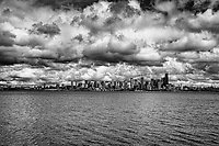 Seattle Skyline - Earth, Water & Wonder (monochrome)