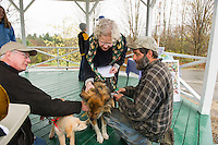 Blessing of the animals at Sanbornton Congregational Church.    Karen Bobotas for the Laconia Daily Sun